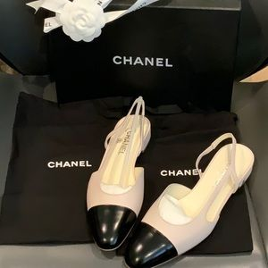 NWT CHANEL SLING SHOES  SIZE 41 stunning